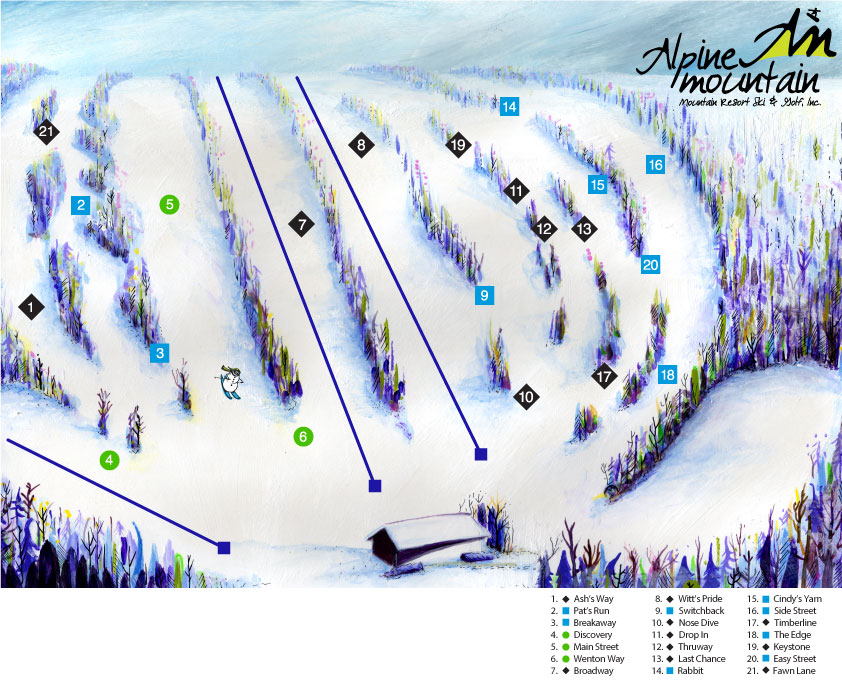 Ski Resort Trail Map Design Process