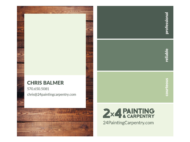 Painting Company Business Card Design
