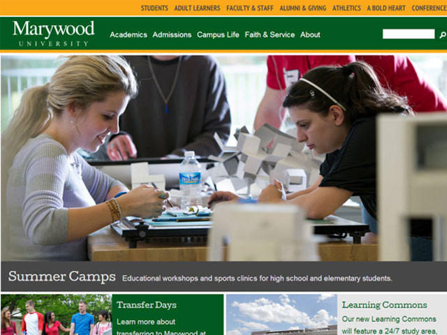 Marywood University Responsive Website Redesign