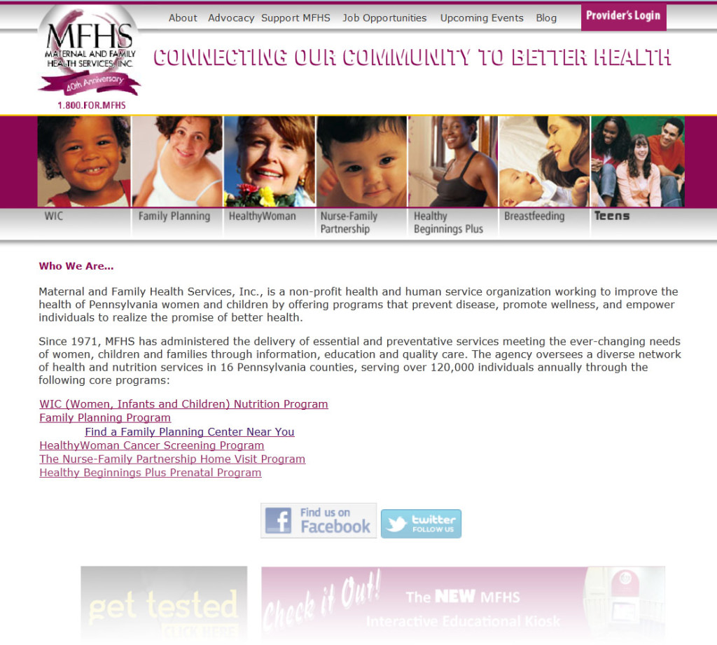 MFHS.org - BEFORE Redesign