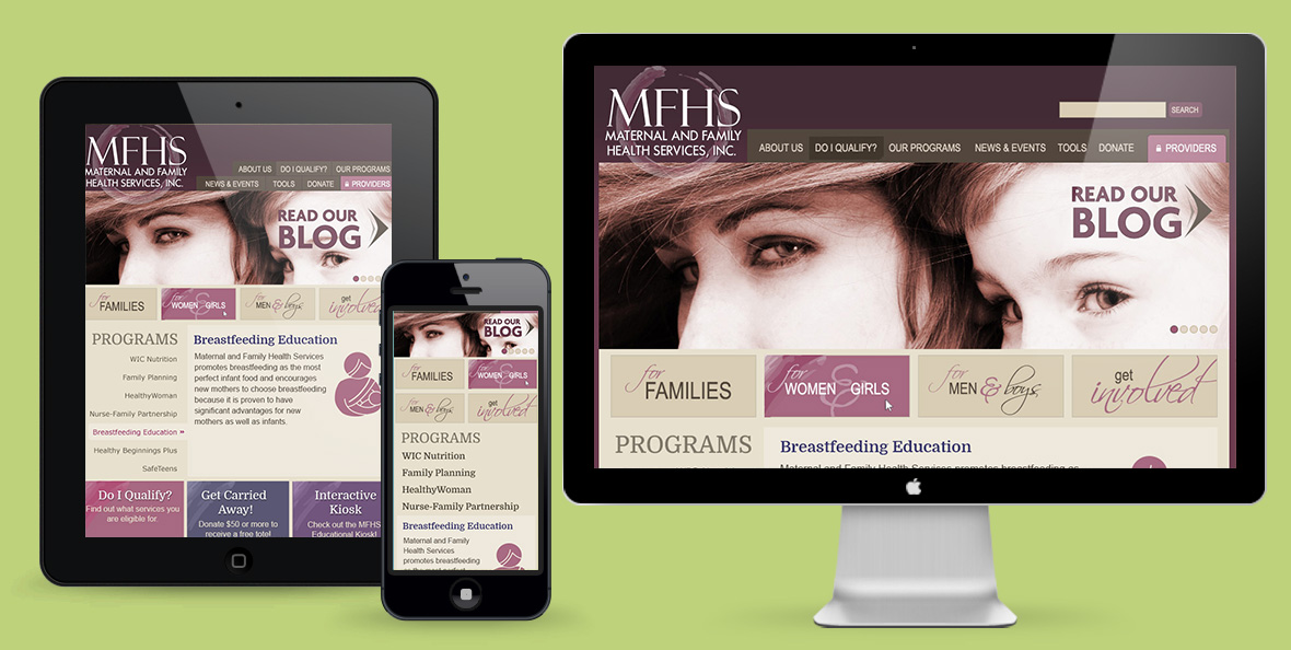 MFHS Website Redesign – Before & After