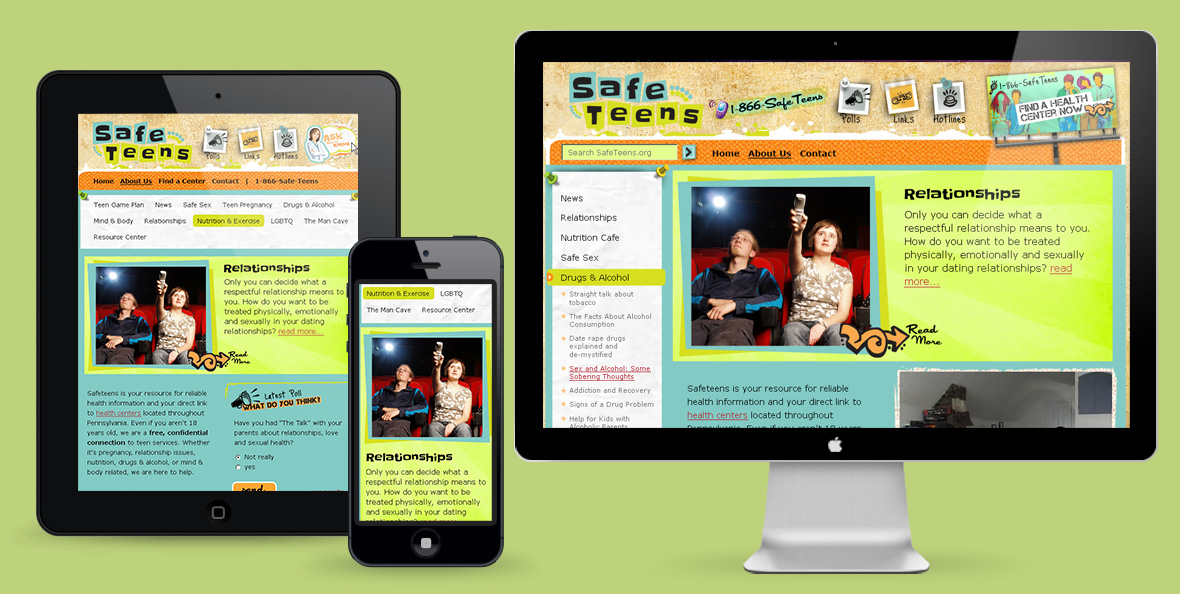 Safeteens Website Redesign – Before & After